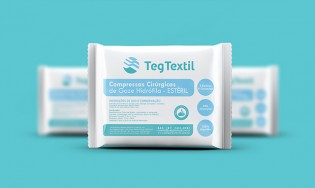 Teg Textil Compressas de Gaze – Logo