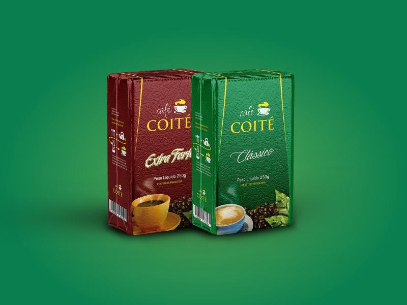 Criação de embalagem a vácuo para café.