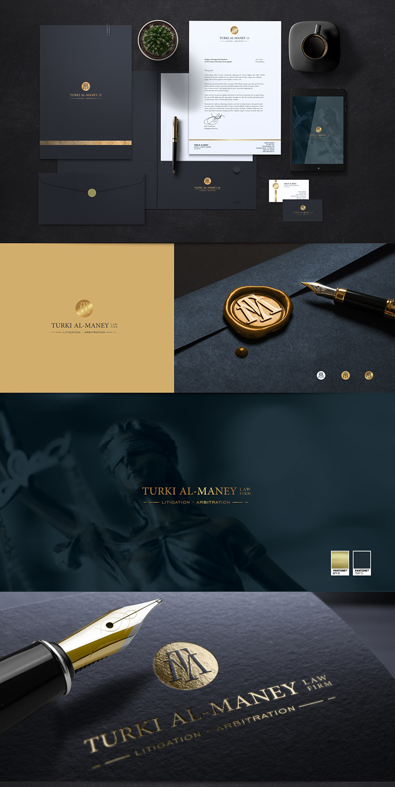 Golden foil Lawyer logo